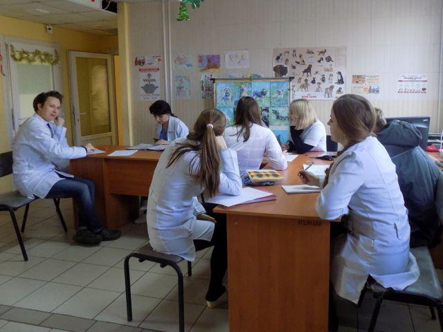 Студенты Харьковской зооветеринарной академии проходят практику в ветеринарной клинике Центра обращения с животными
