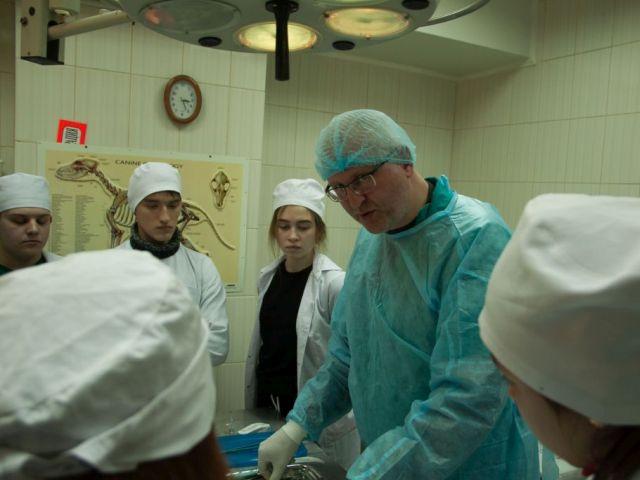 Первокурсники зооветакадемии в ветклинике Центра от теории переходят к практике