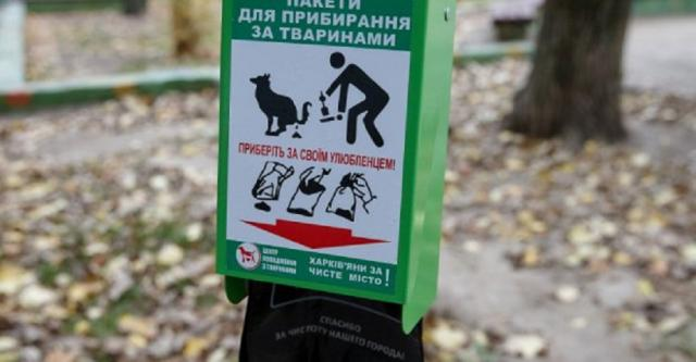 Около 100 диспенсеров с пакетами для уборки за собаками установили во дворах центральной части Харькова