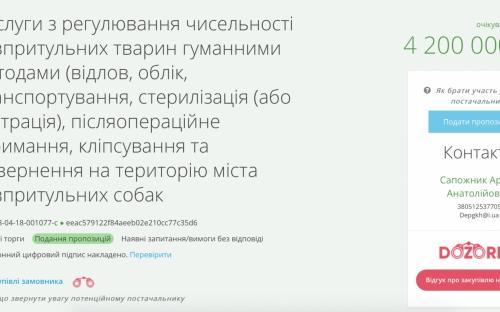4,2 миллиона собирается потратить Департамент ЖКХ на отлов и стерилизацию 2,7 тысяч бездомных собак в Николаеве