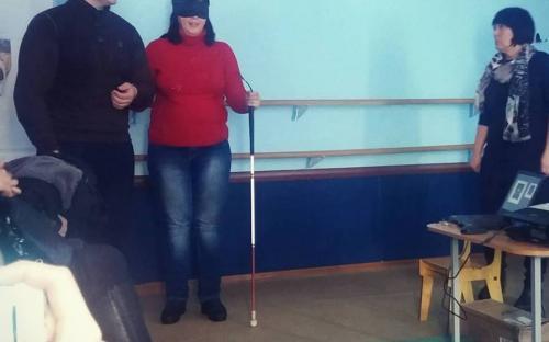"""Проект """"Канистерапия. Харьков"""": перспективное направление -  работа со слабовидящими людьми."""