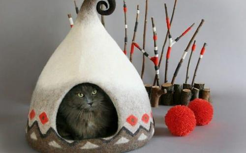 Уникальные домики для кошек