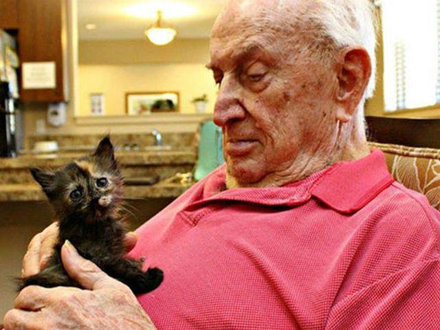 В США объединили под одной крышей дом престарелых и приют для животных