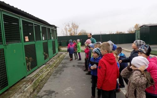 Второклассникам школы № 90 была проведена экскурсия по Центру обращения с животными
